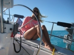 Elle at the helm