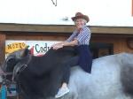 Janet on bull